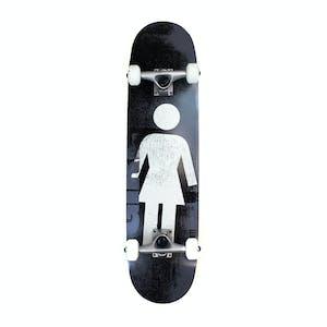 """Girl Bennett Roller OG 7.75"""" Complete Skateboard - Black/White"""