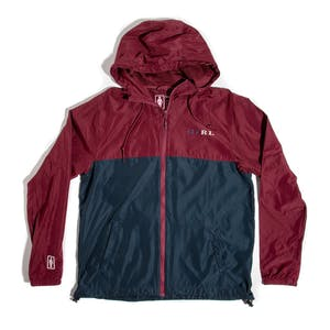 Girl Classic Serif Windbreaker Jacket - Burgundy