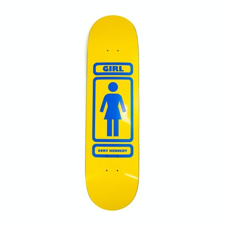 "Girl Kennedy 93 Til 8.38"" Skateboard Deck - Yellow/Blue"