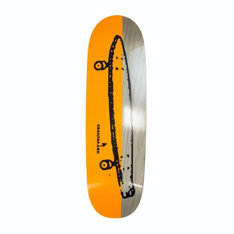 "Girl Crailtap Splitter 9.25"" Skateboard Deck - Orange/Natural"