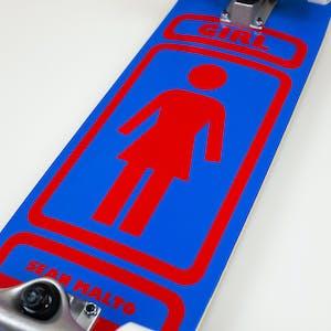 """Girl Malto 93 Til 7.5"""" Complete Skateboard - Blue/Red"""