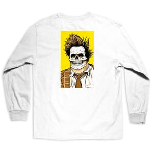 Girl Skull of Fame Long Sleeve T-Shirt - White