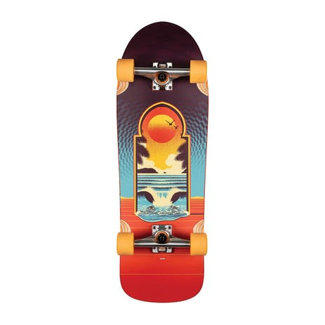 "Globe Aperture 31"" Cruiser Skateboard - Cult of Freedom/Portal"