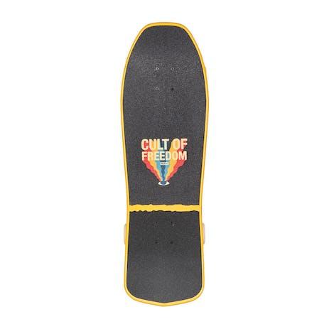 "Globe Blaster 30"" Cruiser Skateboard - Cult of Freedom/Wavehead"