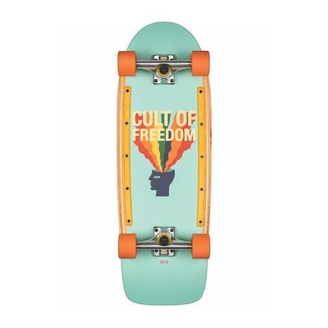 """Globe Burner 31"""" Cruiser Skateboard - Cult of Freedom/Explode"""