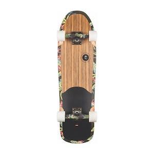 """Globe Pool Bruiser 9.0"""" Cruiser Skateboard - Zebra/Moloka'i"""