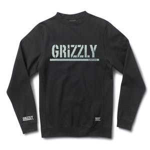 Grizzly Shade Stamp Crewneck — Black