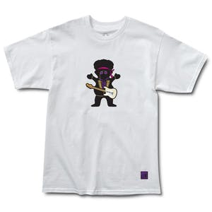 Grizzly Jimi Hendrix Bear T-Shirt - White