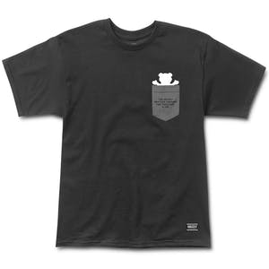 Grizzly Credits Pocket T-Shirt - Black