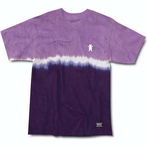 Grizzly Tie-Dye Stripe Mini Bear T-Shirt — Purple