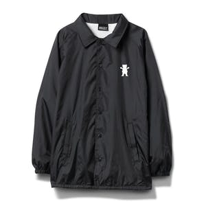 Grizzly Top Team Coaches Jacket - Black