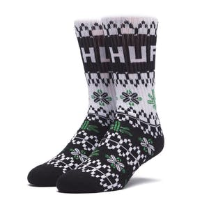 HUF Holiday Sweater Crew Sock - Black