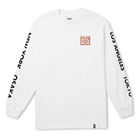 HUF International Block Long Sleeve T-Shirt - White