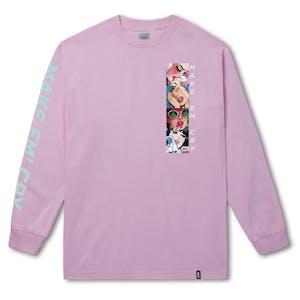 HUF Make 'Em Cry Long Sleeve T-Shirt - Pink