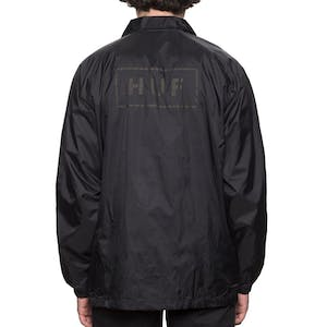 HUF Bar Logo Coaches Jacket - Black