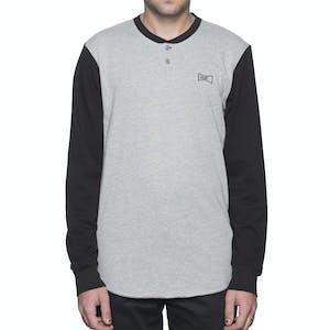 HUF Clubber Henley Shirt - Black/Grey