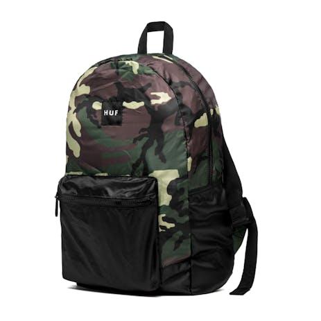 HUF Packable Backpack - Woodland Camo/Black
