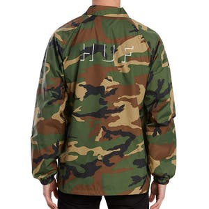 HUF Shadow Coaches Jacket - Woodland Camo