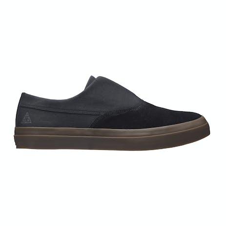 HUF Dylan Slip-On Skate Shoe - Black/Dark Gum