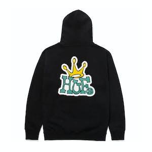HUF Crown Logo Hoodie - Antique Black