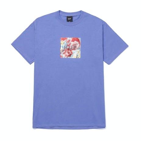 HUF Foil Flower Box Logo T-Shirt - Violet