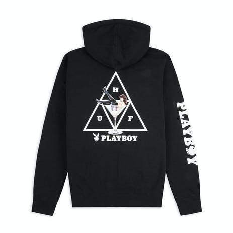 HUF x Playboy Bunny Triple Triangle Hoodie - Black