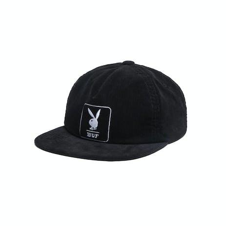 HUF x Playboy Corduroy 5-Panel Hat - Black