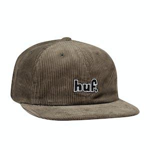 HUF 1993 Logo 6-Panel Hat - Olive Cord