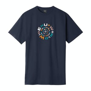 HUF Downward Spiral T-Shirt - French Navy