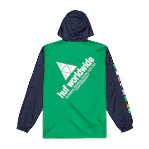 HUF Flags Anorak Jacket - French Navy