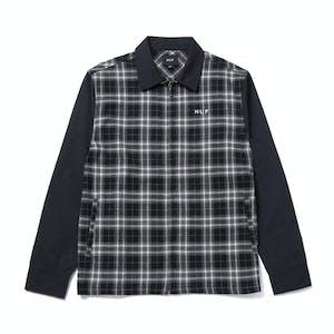 HUF Arberdeen Zip Flannel Shirt - Black