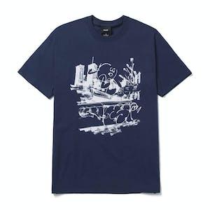 HUF James Jarvis Banks T-Shirt - Navy