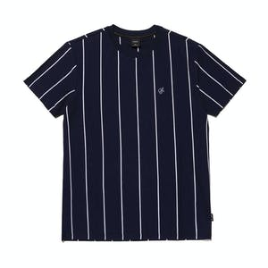 HUF Wesley Stripe Knit T-Shirt - Navy