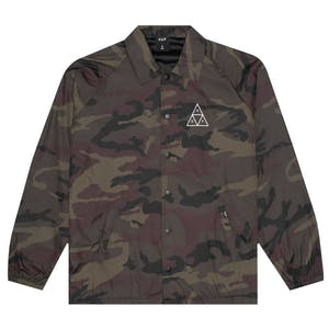 HUF Triple Triangle Coaches Jacket - Woodland Camo