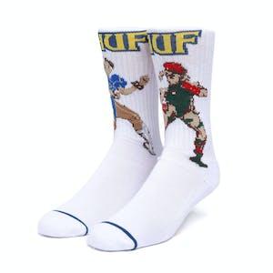 HUF x Street Fighter Chun-Li & Cammy Socks - White