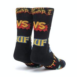 HUF x Street Fighter Graphic Socks - Black