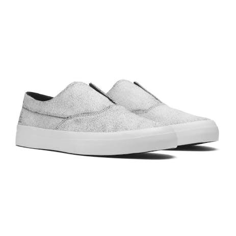 HUF Dylan Slip-On Skate Shoe - Cracked White/Black