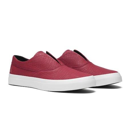 HUF Dylan Slip-On Skate Shoe - Rosewood Red