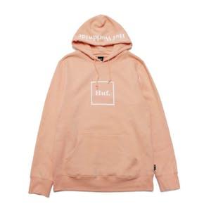 HUF Essentials Box Logo Hoodie - Coral Pink