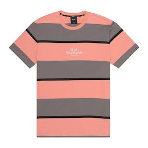 HUF Mazon Stripe Knit T-Shirt - Charcoal