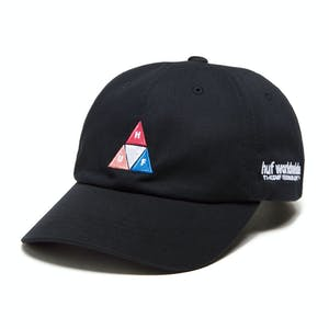 HUF Peak Logo 6-Panel Hat - Black