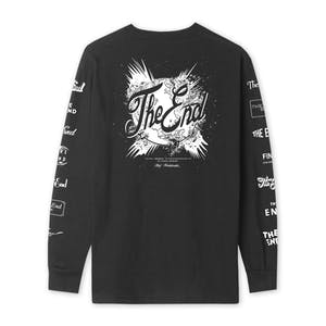 HUF The End Long Sleeve T-Shirt - Black