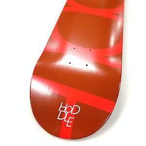 Hoddle Logo Skateboard Deck - Red/Brown