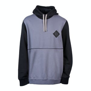 INI Block Pullover Hoodie - Charcoal