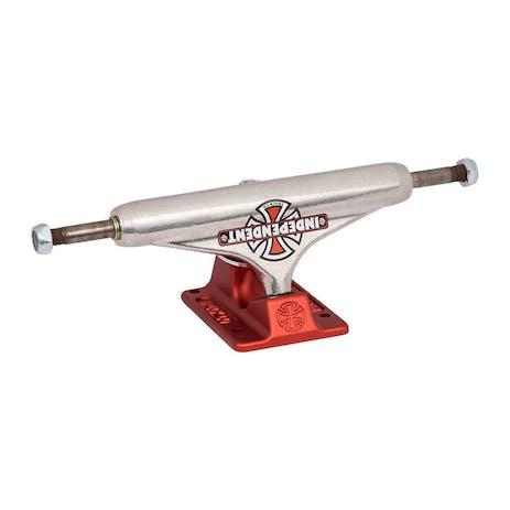Independent Vintage Cross Hollow 149 Skateboard Trucks - Red/Silver