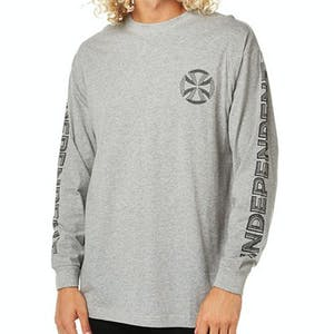 Independent Lines Long-Sleeve T-Shirt - Grey