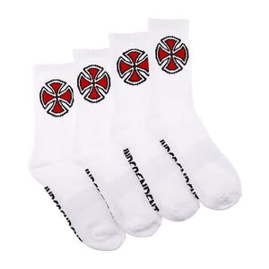 Independent OG Cross Socks 4-Pack - White