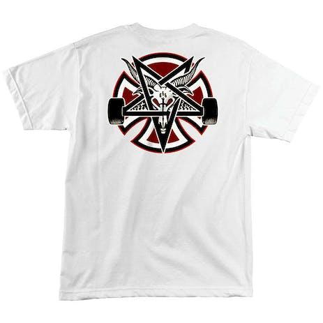 Independent x Thrasher Pentagram Cross T-Shirt - White