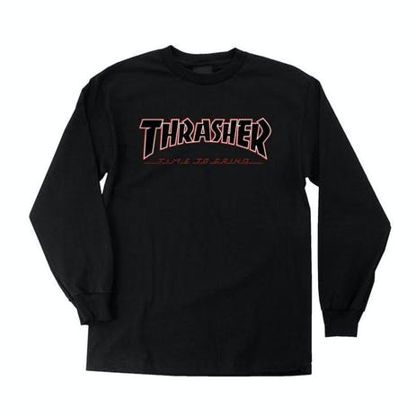 Independent x Thrasher Time To Grind Long-Sleeve T-Shirt - Black