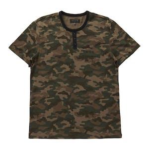 Kr3w Daze Henley T-Shirt - Camo